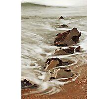 Rock and Water: Pescadero, CA., Winter, 2014 Photographic Print