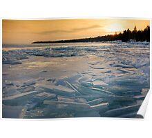 Broken - Lake Superior Poster