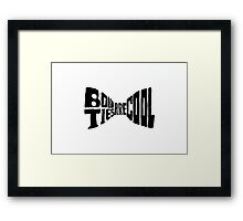 Doctor Who: bow tie (black) Framed Print