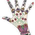 Celtic Mehndi hand by redqueenself