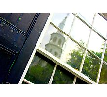 Steeple Reflection Photographic Print