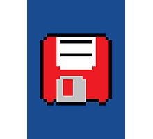 Floppy Disk - Red Photographic Print