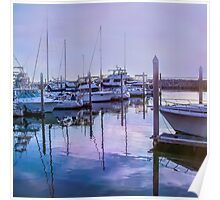 Boats in Port Poster