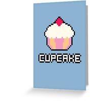 8-Bit Cupcake [Pink] Greeting Card