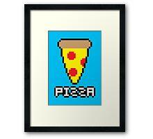 8-Bit Pizza Framed Print