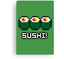 8-Bit Sushi Canvas Print