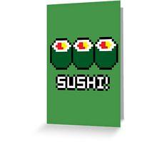 8-Bit Sushi Greeting Card