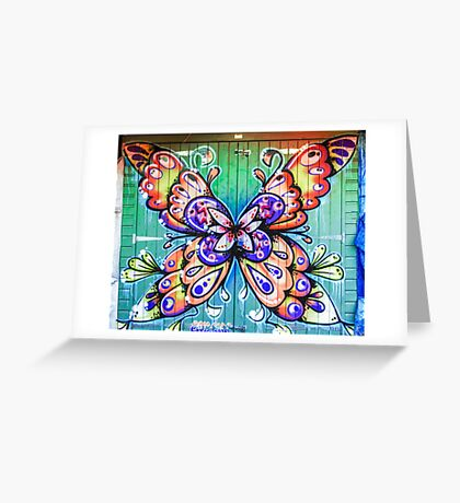 Butterfly Graffiti Greeting Card