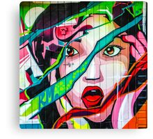 Screaming Girl Graffiti Canvas Print