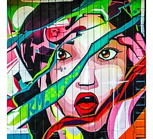 Screaming Girl Graffiti Photographic Print