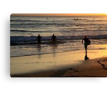 Early Morning Surf Canvas Print