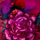 Rose Wonder Alcohol Ink Painting by Brenda Thour