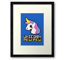 Unicorn Pew-Pew! Framed Print