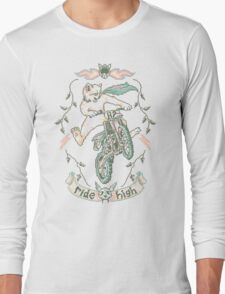 Motocross-Stitch Kitteh Long Sleeve T-Shirt