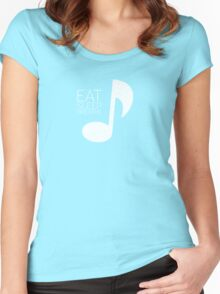 Eat, Sleep, Breathe Music Tee Women's Fitted Scoop T-Shirt