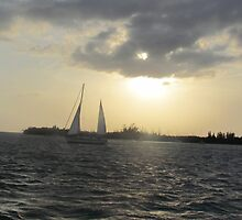 Key west sky and boat by GleaPhotography