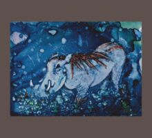 Blue Warthog In Alcohol Ink Kids Clothes