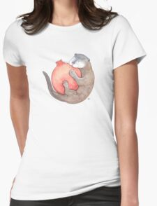 Otter & Pomegranate Womens Fitted T-Shirt