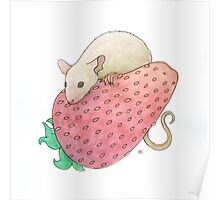 Mouse & Strawberry Poster