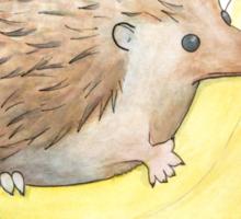 Hedgehog & Banana Sticker