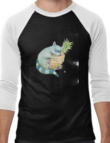 Raccoon & Pineapple Men's Baseball ¾ T-Shirt