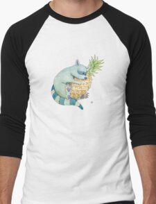 Raccoon & Pineapple Men's Baseball ¾ T-Shirt