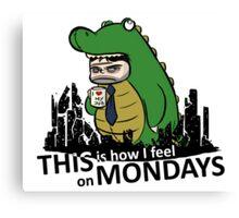 Monday Kaiju Canvas Print