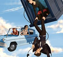 Doctor Who meets Harry Potter by riding-lights