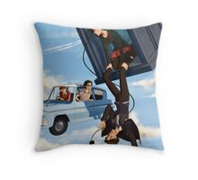 Doctor Who meets Harry Potter Throw Pillow