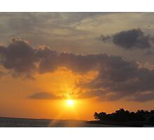 Key West Sunset and Boat Photographic Print