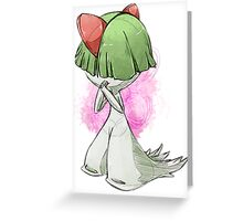 Pokemon Doodles - Ralts Greeting Card