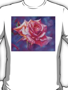 Orange rose on purple T-Shirt