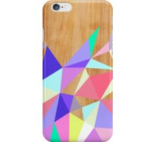 Wooden Geo Pastel iPhone Case/Skin