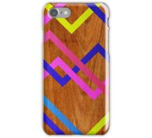 Pink & Yellow Wooden iPhone Case/Skin