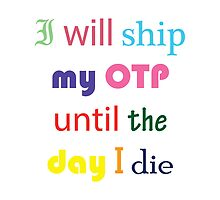 I Will Ship My OTP Until The Day I Die iPad Case by CreativeStuff