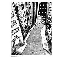 'Crooked Street in a Crooked City' Photographic Print