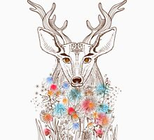 Deer and flowers Unisex T-Shirt