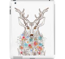Deer and flowers iPad Case/Skin