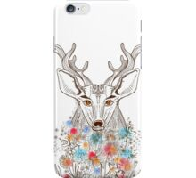 Deer and flowers iPhone Case/Skin