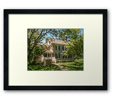Grover Cleveland's Birthplace, Caldwell NJ, USA Framed Print