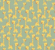 CARTOON PATTERN-giraffe by Pattern-Color