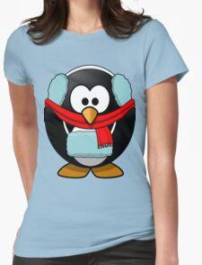 Freezin Penguin Womens Fitted T-Shirt