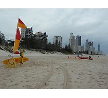 Beach Tracks Rescue Photographic Print