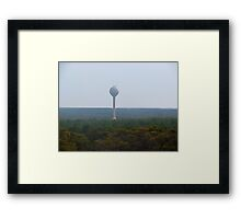 Trees and Watertower Framed Print