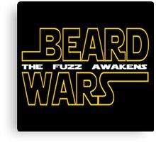 Beard Wars The Fuzz Awakens Men's Funny Beard Sci-fi T-Shirt. Canvas Print