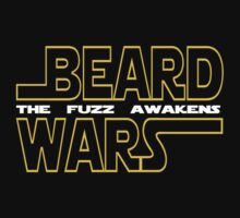 Beard Wars The Fuzz Awakens Men's Funny Beard Sci-fi T-Shirt. Baby Tee