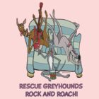 Rescue Greyhound's rock and roach! by NHR CARTOONS .