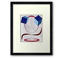 Cube Eyes Framed Print