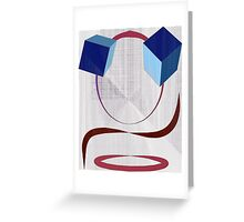 Cube Eyes Greeting Card