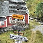 For a Challenge ( 2 ) - Signage Into Flåm by cullodenmist